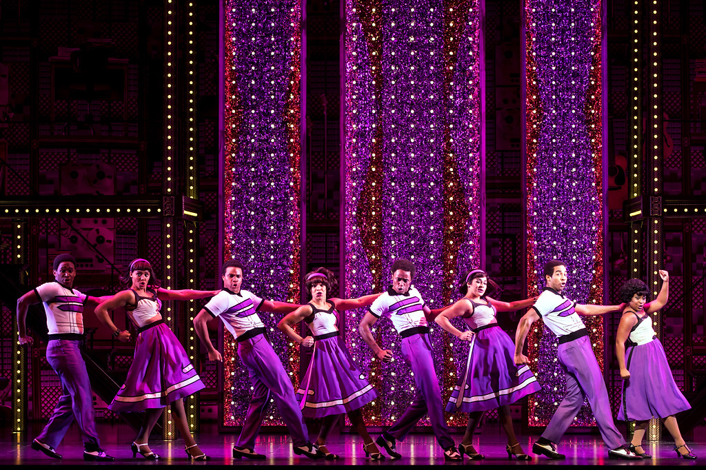 . The touring cast of �Beautiful -- The Carole King Musical� performs a number. The show is at Playhouse Square\'s Connor Palace from June 5-17. For more information, visit playhousesquare.org.  (Matthew Murphy)