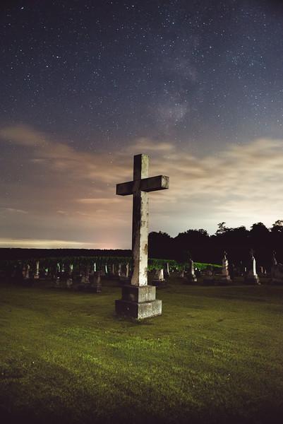 Madonnaville Cemetery under the stars
