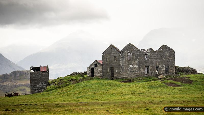 Characterful ruins alongside Viðborðssel farm, near Höfn