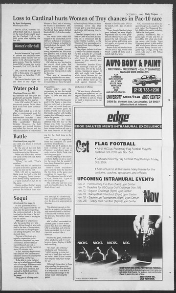 Daily Trojan, Vol. 129, No. 37, October 21, 1996