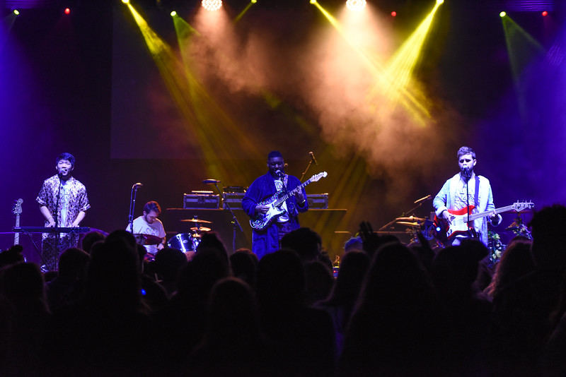 Battle of the Bands winner Pajama Party performs at the Homecoming Concert.