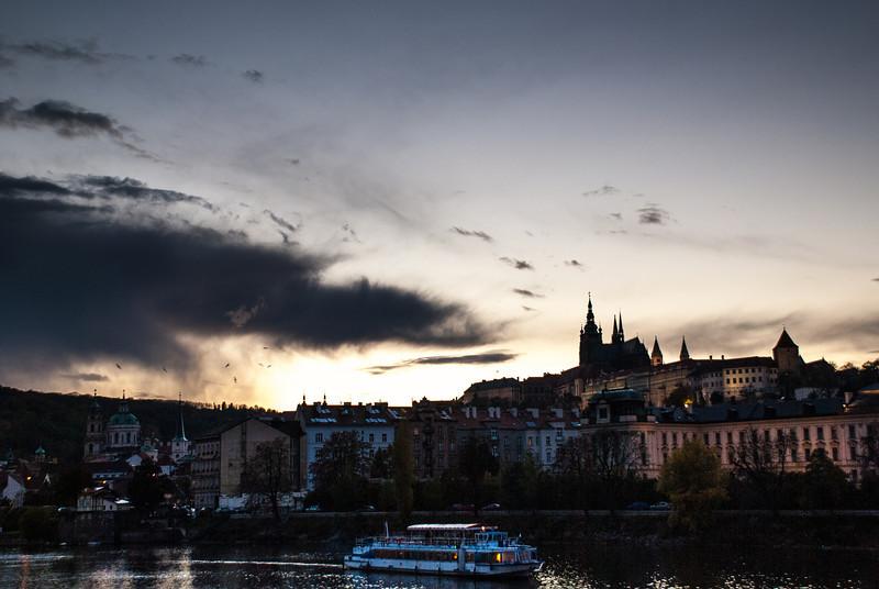 Sunset on Prague Castle