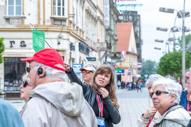 Our tour leader in Vukovar, Helena