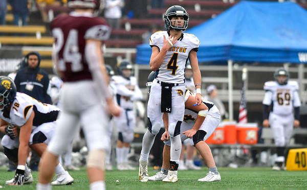 12/14/2019 Mike Orazzi | Staff Weston's James Goetz (4) during the Class M State final at Veteran's Stadium in New Britain on Saturday.