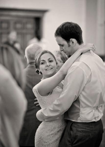 Bride and Groom dancing B+W.jpg