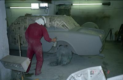 Spraying of some primer coatings.