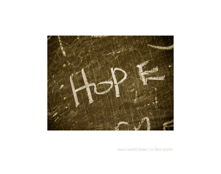 "HOPE ""What is true of the individual will be tomorrow true of the whole nation if individuals will but refuse to lose heart and hope."" — Mahatma Gandhi"