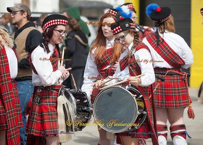 2016 St. Patricks Day Parade Central High Drums