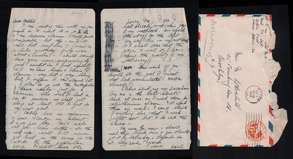 Carl Rothschild letters home from WW2