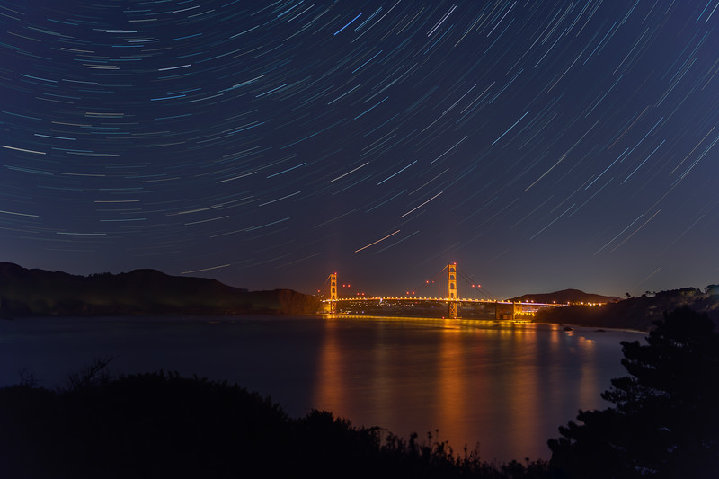 Star Trails over the Golden Gate Bridge