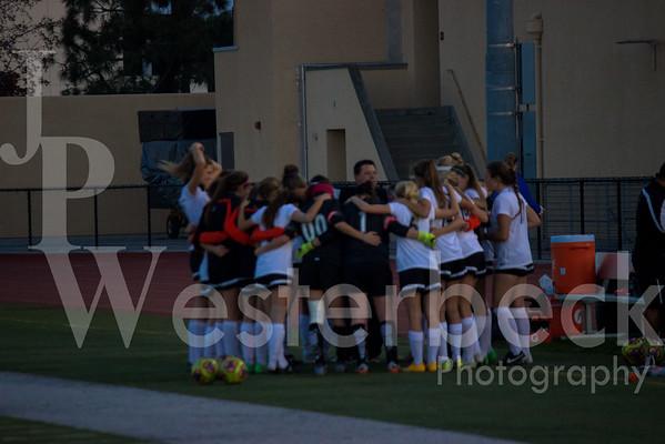 Varsity Girls Soccer vs Dana Hills 12-4-2015