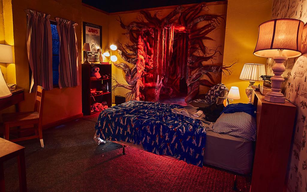 Universal Studios Singapore Halloween Horror Nights 8 Before Dark update - STRANGER THINGS haunted house / Will's Bedroom