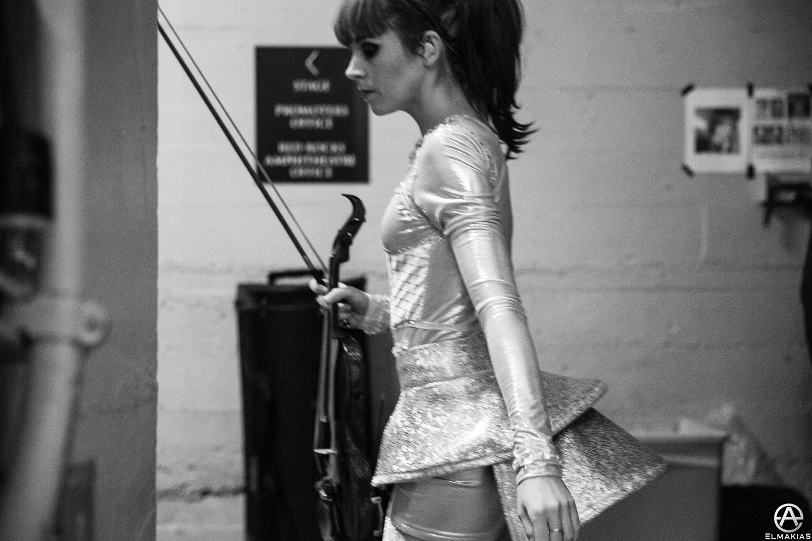 Lindsey Stirling backstage before her set Red Rocks Amphitheater by Adam Elmakias