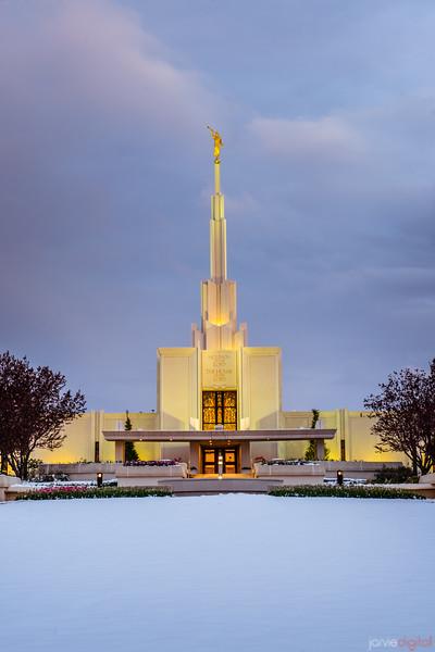Denver Temple Front Vertical