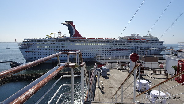 Obstructed CARNIVAL INSPIRATION & IMAGINATION, Long Beach 17 & 20 Apr 2017