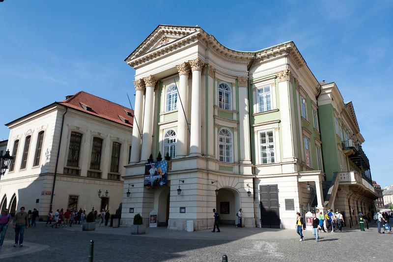 Profile of the Prague Estates Theatre - Prague, Czech Republic
