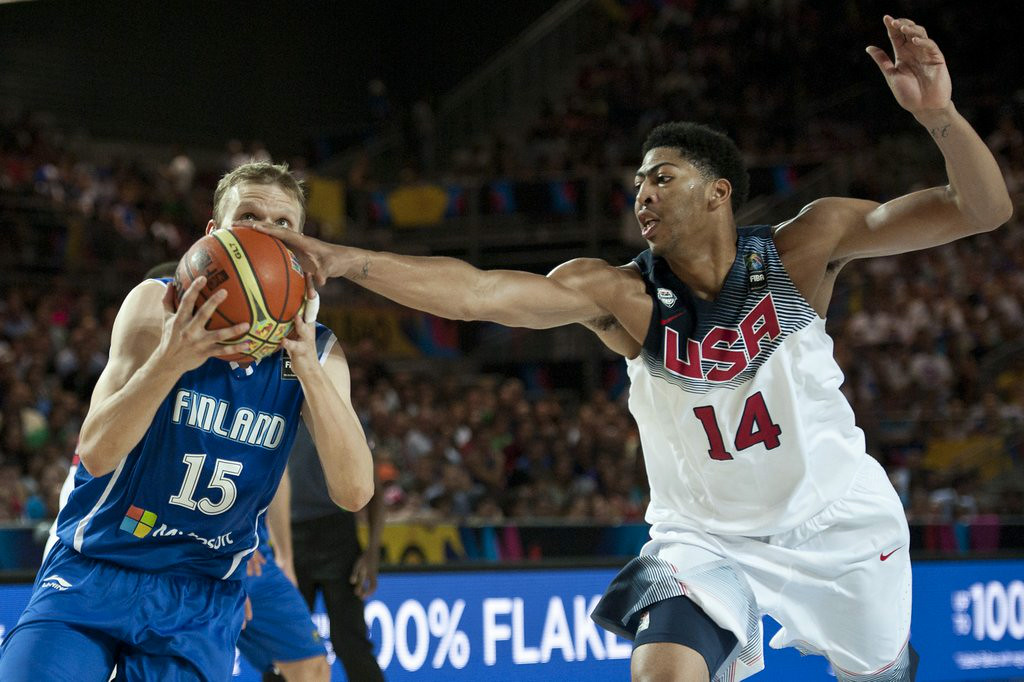 ". 6. (tie) FINLAND <p>Sure, they suck at basketball, but they kick U.S. ass in the Nordic combined. (unranked) </p><p><b><a href=""http://www.usatoday.com/story/sports/nba/2014/08/30/us-dominates-finland-114-54-in-basketball-worlds/14873717/\"" target=\""_blank\""> LINK </a></b> </p><p>   (AP Photo/Alvaro Barrientos)</p>"