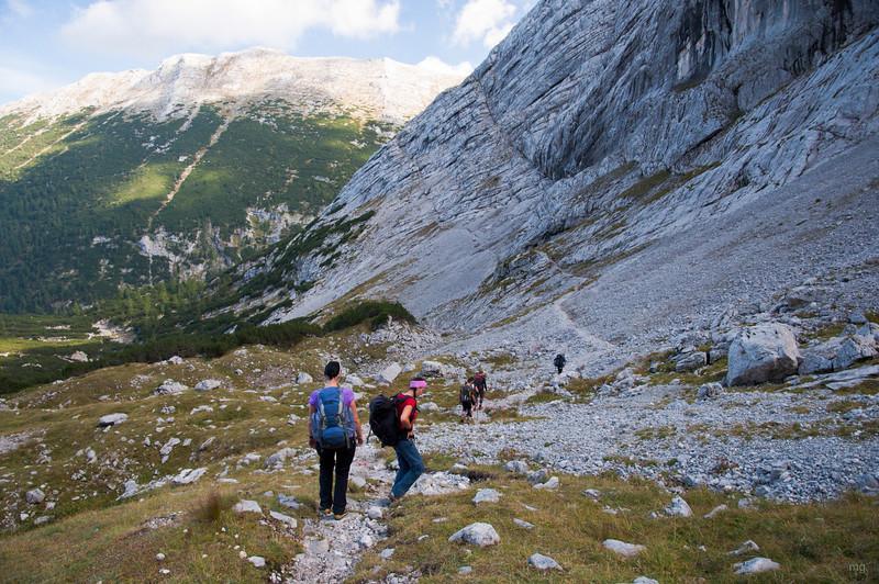 Abstieg zur Hesshütte
