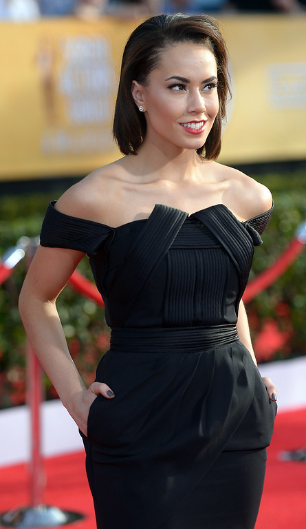 . Alex Hudgens arrives at the 20th Annual Screen Actors Guild Awards  at the Shrine Auditorium in Los Angeles, California on Saturday January 18, 2014 (Photo by Michael Owen Baker / Los Angeles Daily News)