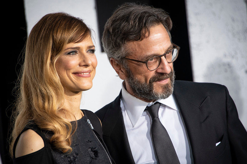 """HOLLYWOOD, CALIFORNIA - SEPTEMBER 28: Marc Maron and Lynn Shelton attend the premiere of Warner Bros Pictures """"Joker"""" on Saturday, September 28, 2019 in Hollywood, California. (Photo by Tom Sorensen/Moovieboy Pictures)"""