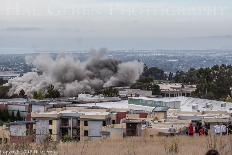 Warren Hall Demolition Cal State East Bay (Hayward) August 17, 2013