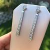 4.50ctw Art Deco Conversion Dangle Earrings 15