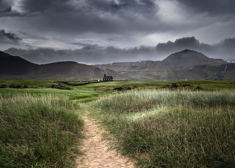 Walk to Iceland's Church  Photography by Wayne Heim