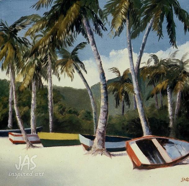 Grenada Beach Boats 2