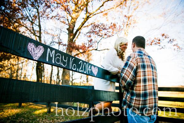 Amanda & Kyle Color Engagement Photos
