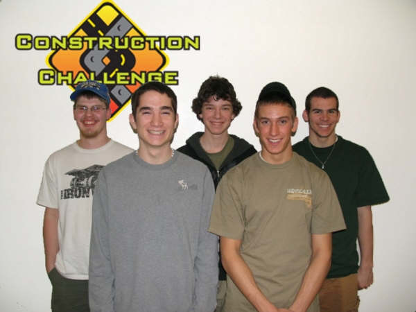 Construction Challenge team from Monadnock Regional High School. The Construction Challenge team won it's spot in the Boston Regional Competition and will be part of Team New Hampshire as they compete at Global Finals!