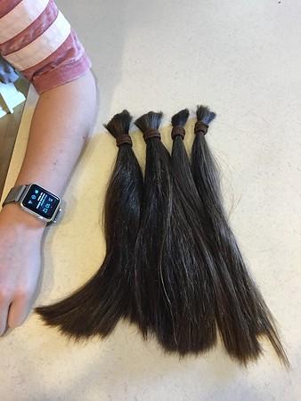 Kailin's hair donation