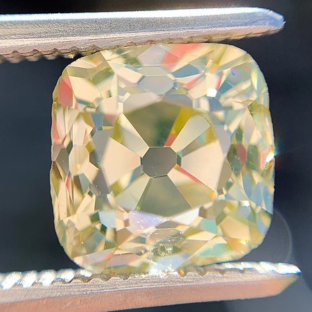 2.10ct Light Yellow Antique Peruzzi Cut Diamond, GIA W-X SI2