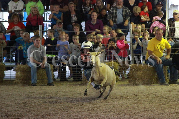 08-26-15 News Mutton busting at Defiance County Fair