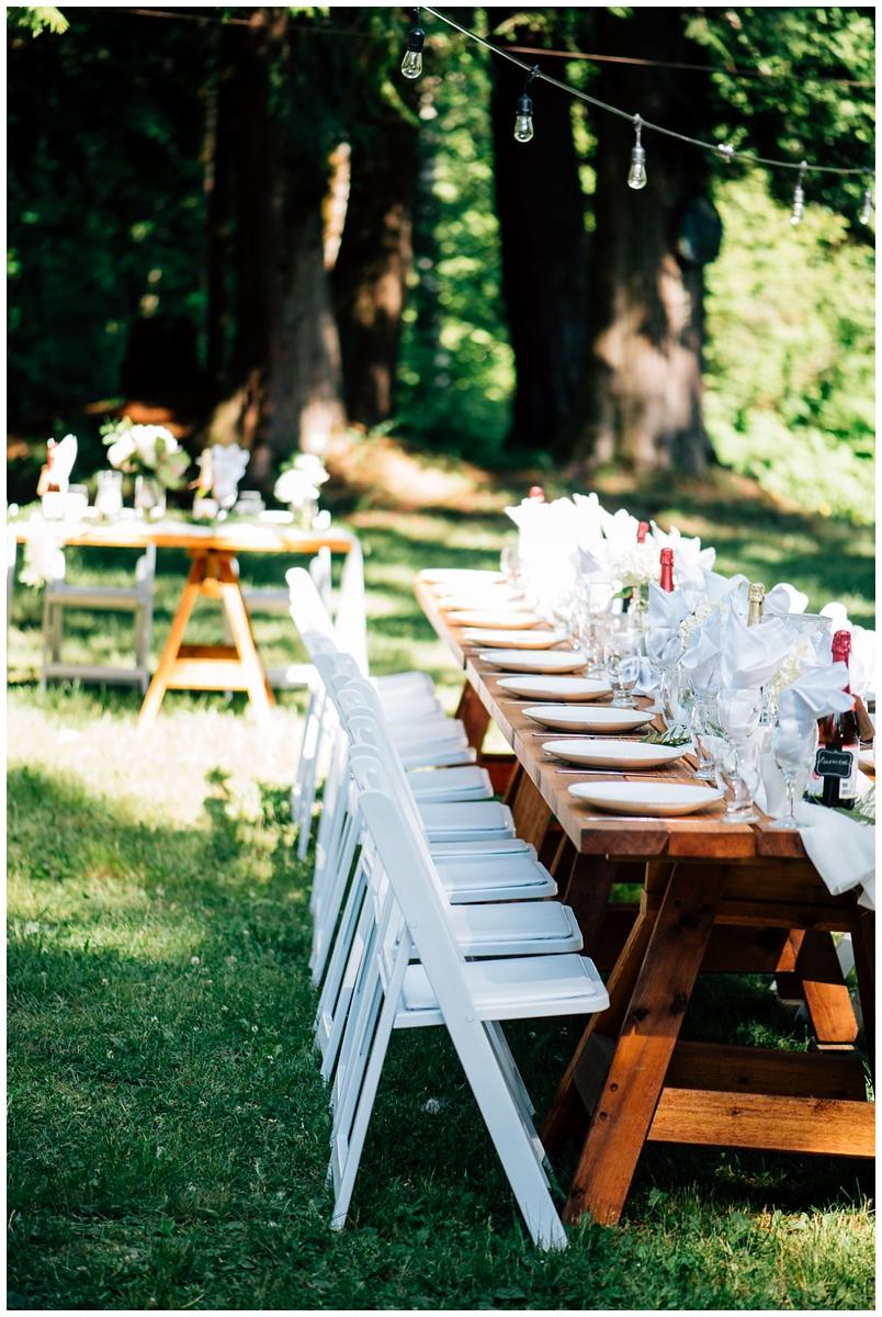 Harvest Tables Wedding Hope British Columbia