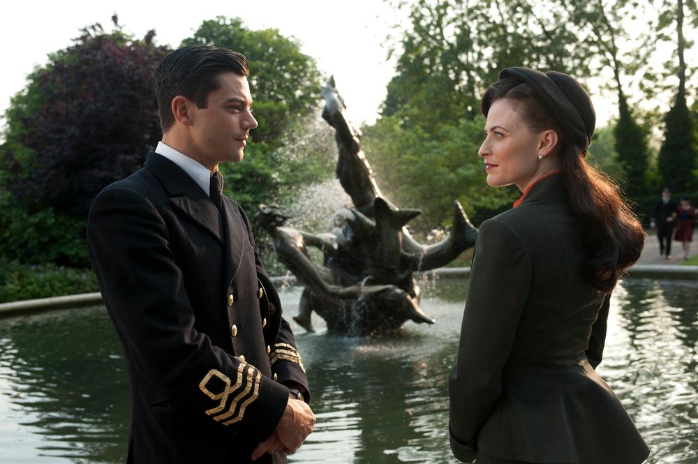. Lara Pulver as Ann O�Neill and Dominic Cooper as Ian Fleming. (Photo by Liam Daniel)