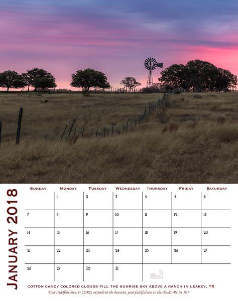 2018 Calendar- Texas Edition