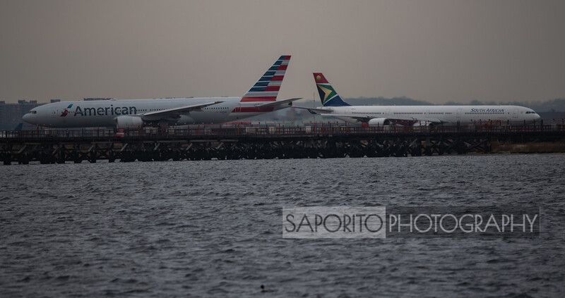 American 777 and South African A340-600