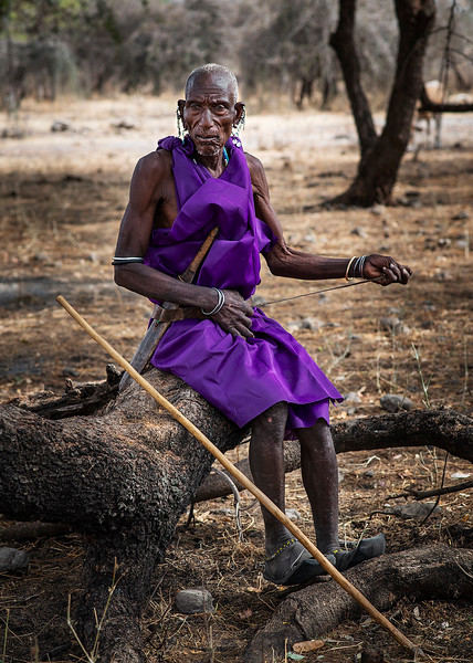 A tribal elder from the Masai tribe.  Tanzania, 2019.