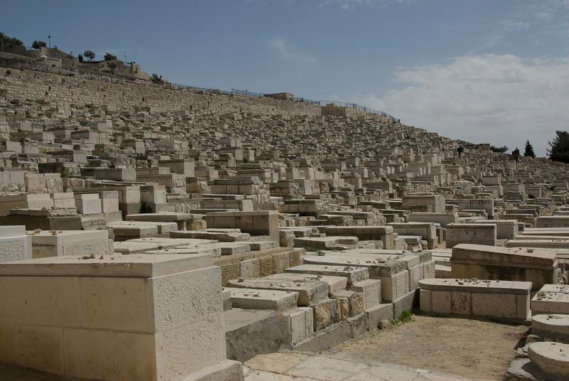 Jewish graves in Temple Mount, Jerusalem, Israel