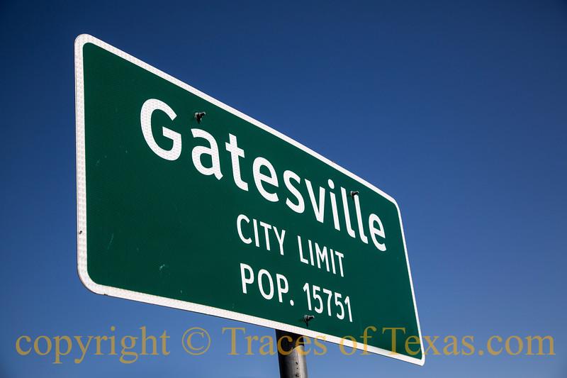 Title: Gatesville City Limits<br /> <br /> Comments: My evil 5th grade teacher lived in Gatesville. <br /> <br /> Location:  Uh, Gatesville?