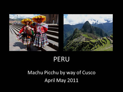 2011 Cusco and Machu Picchu
