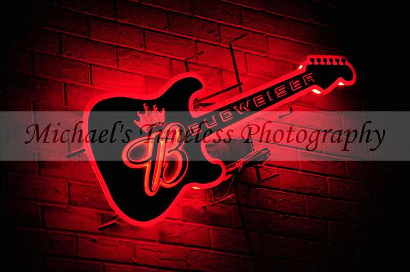 Red Neon Guitar