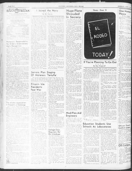 Daily Trojan, Vol. 30, No. 148, June 01, 1939