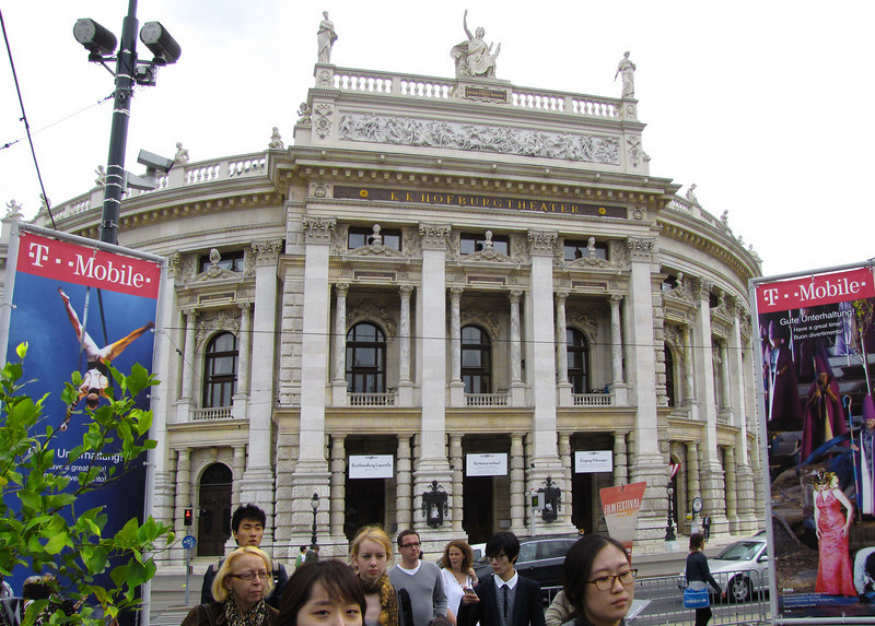 31-Hofburg Theater, Karl Lueger Ring, across the street from the University and the City Hall (Rathaus)