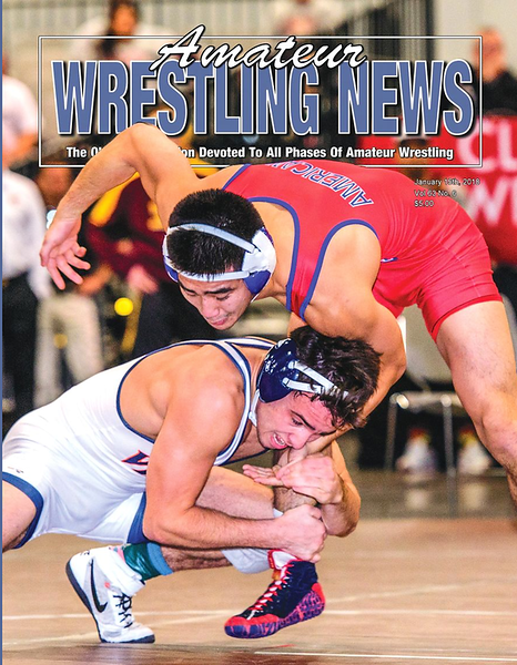 Amateur Wrestling News Cover, Jan, 2018