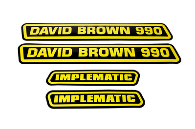 DAVID BROWN 990 IMPLEMATIC BONNET DECAL STICKERS