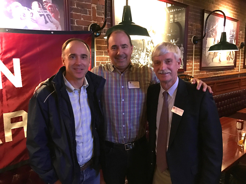 Brendan McKernan '89, Kevin McKernan '91, and Peter Evans P'98