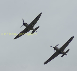 The BBMF fly past