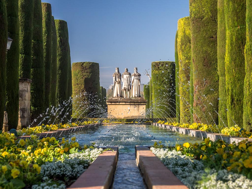 Columbus Receives His Charge, Alcázar Gardens, Córdoba, Spain