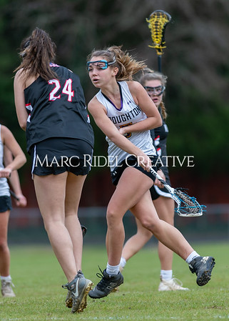 Broughton girls varsity lacrosse vs Middle Creek. February 28, 2020. D4S_0180